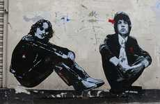 Rock 'n' Roll Graffiti - Jef Aerosol Turns London Streets into Artistic Rock Tributes