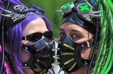 Gothic Gas Masks - The 'Wave Gotik Treffen' Goth Festival in Leipzig is for the Dark and Scary