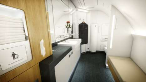 Sound-Proof Flights - Lufthansa Airbus A380 Jetliner is Extra Extravagant