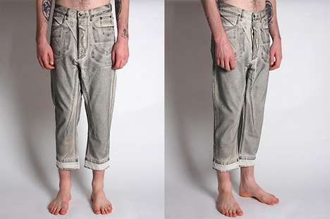 Car-Capital Capris - The Rick Owens' DRKSHDW Woven Pants are Inspired by Detroit