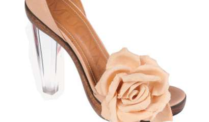 Rosy Clear-Heeled Pumps