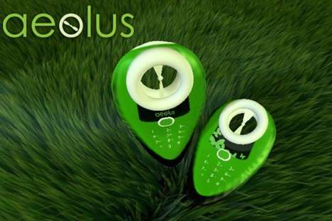 The Energy-Saving Aeolus Phone Charges Via Wind or Solar Power