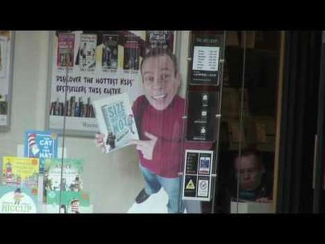 Novel Guerrilla Marketing - Warwick Davis Vandalizes a Waterstones to Promote His Book