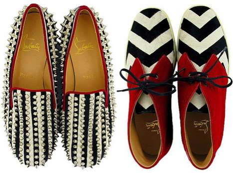 Zebra-Striped Footwear - The Christian Louboutin Fall Collection is Wild