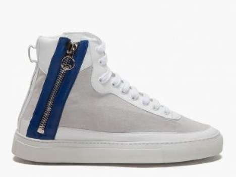 Zipper-Sided High Tops