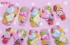 Picnic Food Press-Ons - Kawaii Nails Offers Extensive Range of Strange Nails