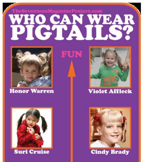 Juvenile Hairstyle Rules - 'Who Can Wear Pigtails?' Chart Makes it Obvious Who Can't