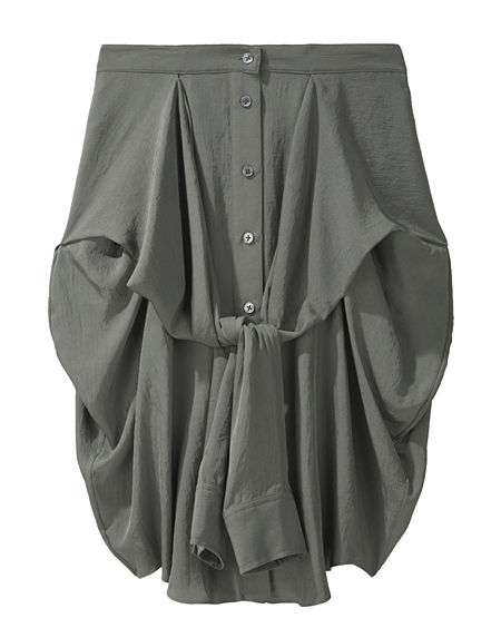The Alexander Wang Silky Front Tie Shirt Skirt is Super Quirky