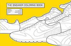 Fashionable Activity Books - The Sneaker Colouring Book is for Growing Sneaker Freaks