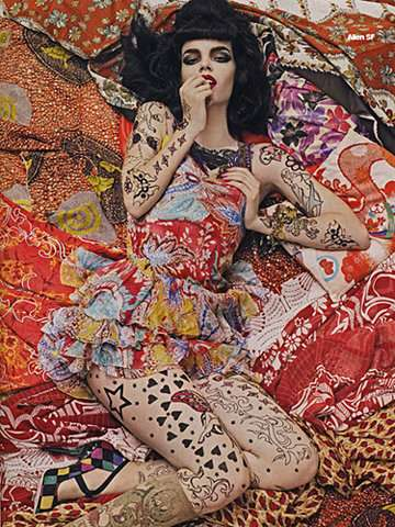 Patterned Punk Pin-Ups