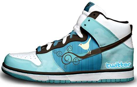 Twitter High-Tops - Daniel Reese Customized Sneakers Feature Pop Culture Heavyweights