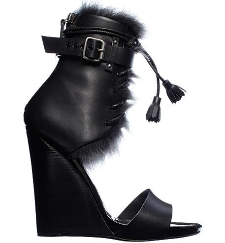 Furry Wedge Heels