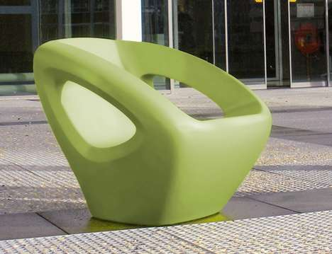 Ladylike Chairs - 'Chairchez La Femme' is a Clever Postcard Introduction of the Seaser Chair by Lonc