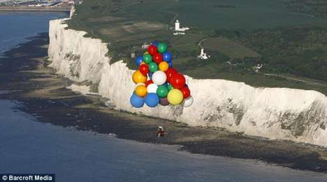 Jonathan Trappe Crosses English Channel by Balloons