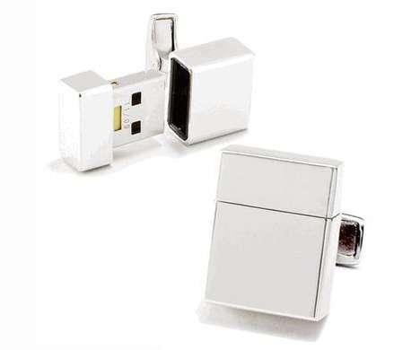 Suave USB Cufflinks