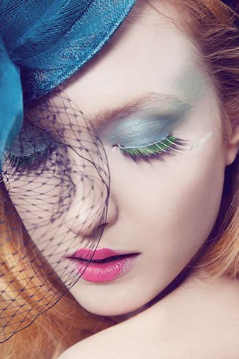 Feathery Metallic Lashes - 'Fairy Perfume' by Erminando Aliaj is Magical