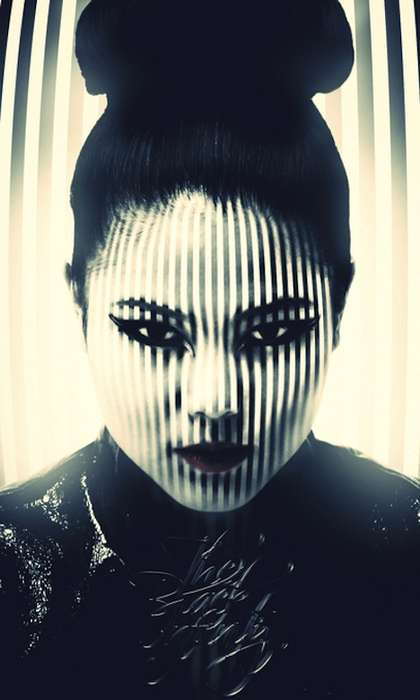 Striped Face Photography - 'Infinity of Black' by SEPT is All About Shaded Art