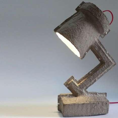 Egg Carton Lamps