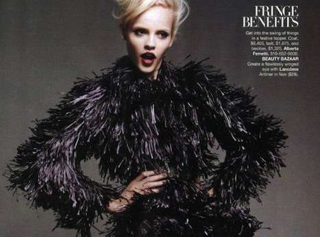 Funky Feathered Coats - 'The Season's Riches' in Harper's Bazaar Shows Off F