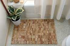 Booze Bathroom Decor - The Wine Cork Bath Mat is the Perfect Do it Yourself Project