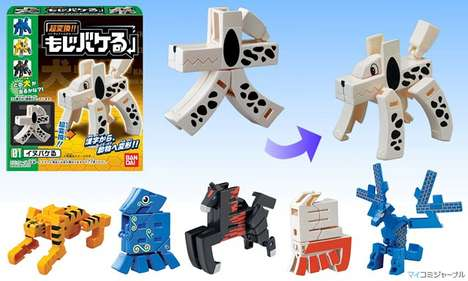 Typographic Transformer Toys - Have Hours of Fun with the Mojibakeru Toys