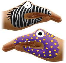 Hand Puppet Ink - ThinkGeek Brings You Temporary Hand Tattoos