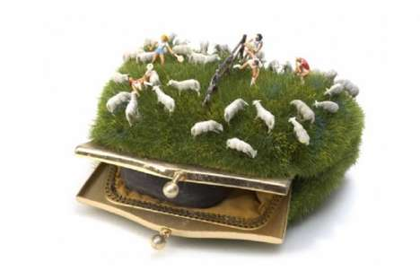 Sheep-Infested Clutches - Kendal Murray Combines Fashion Accessories with Nature