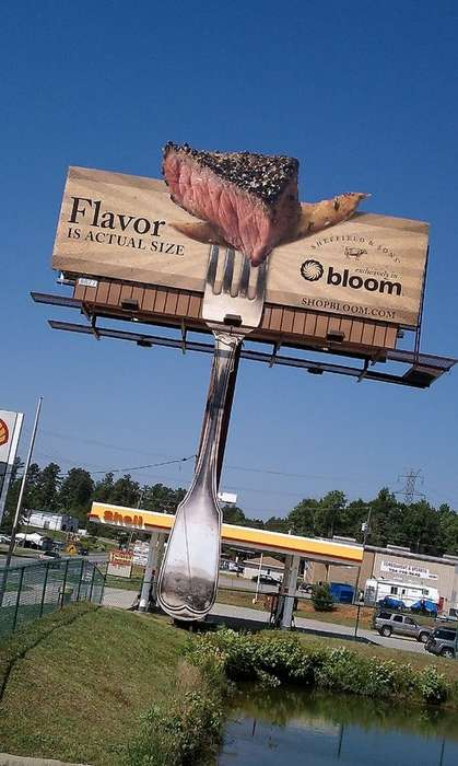 Smelly Billboards - The Steak-Scented Billboard Makes Makes Mouths Water During Rush Hour