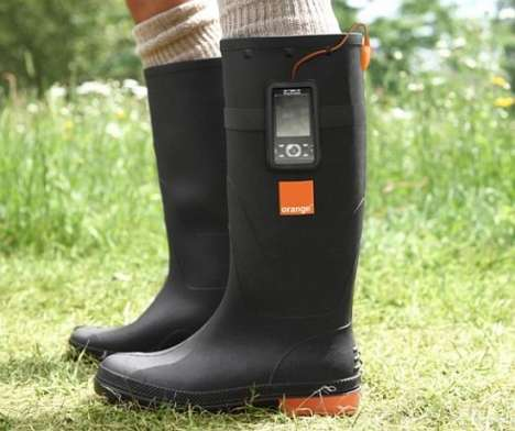 Phone-Charging Boots