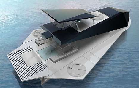 Foldable Superboats - The Origami Yacht Makes Boating a 360 Degree Experience
