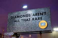 Bejeweled Billboards - The 'Treasure!' Exhibition Advertises with Real Gold and Diamond Signage