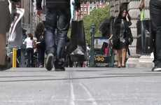 Pedestrian Traffic Control - 'The Tourist Lane' in New York City has Been Implemented