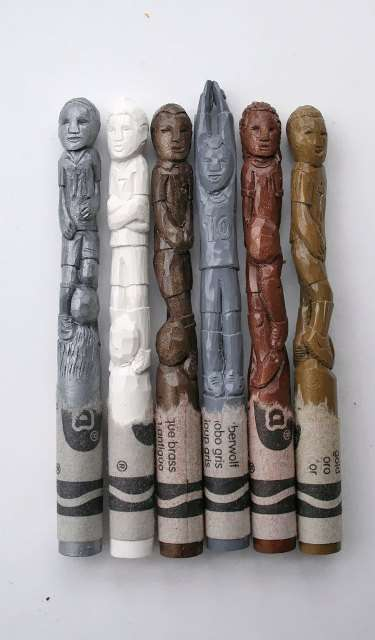 World Cup Crayon Carvings - Diem Chau's World Cup Crayons are Stunning Sports Sculptures