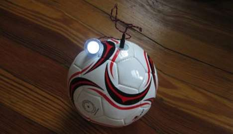 The sOccket is a Soccer Ball that Stores Energy to Power Lights