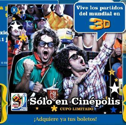 3D World Sporting Events - Cinepolis Mexico Will Play the World Cup 2010 in 3D
