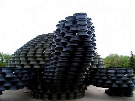 Recycled Rim Mega Sculptures