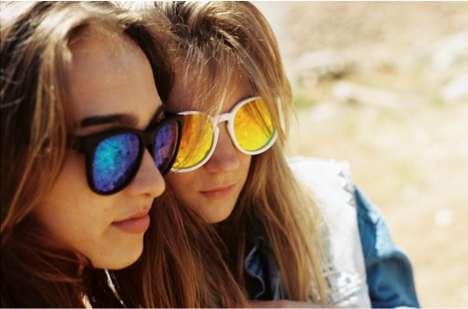 Reflective Neon Sunglasses