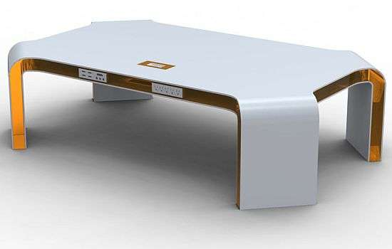 Tech Friendly Coffee Tables Integrated Technology Table