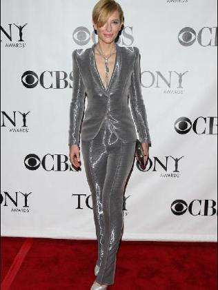 The Cate Blanchett Silver Armani Prive Suit Steals the Show