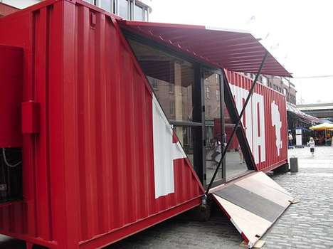 Shipping Container Sports Stores - Puma's Pop-Up Shop Arrives in NYC for the World Cup