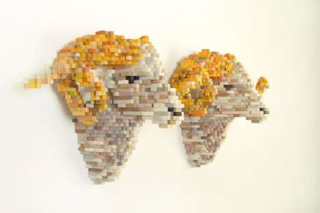 Pixelated Sculptures - Shawn Smith's 3D Artwork Will Blow Your Mind