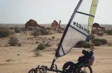 Sailing Tricycles - The Whike Offers Pedal- and Wind-Powered Fun