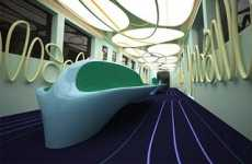 Quirky Curvy Subways - Aleksandar Dimitrov Designs a Fun and Stylish Spanish Metro Car