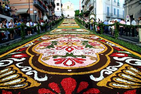 Flowering Carpets - The Genzano Infiorata Flower Festival Will Have Streets Smelling Sweet