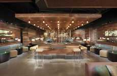 Cellar-Inspired Wine Lounges - The Press Club by BCV Architects is Fine Dining at its Best