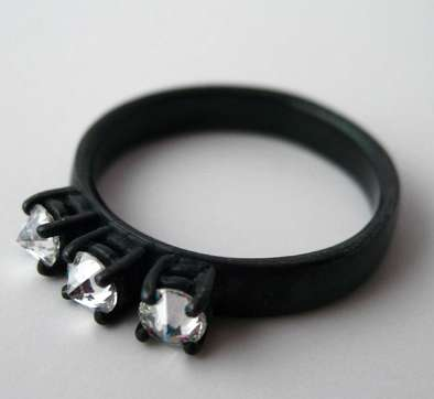 Black Silver Engagement Rings