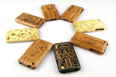 Etched Phone Protectors - The Grove iPhone 3G Case by Jonny Wan is Made of Bamboo