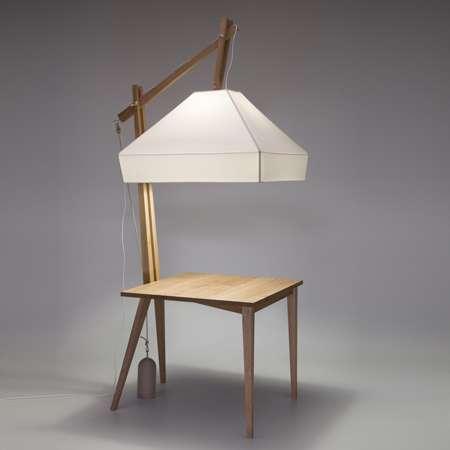 Desk-Eating Lamps