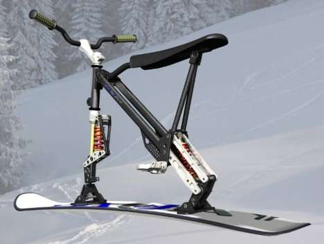 The Omo Ski-Bike Blends a Ski Blade and a Bicycle