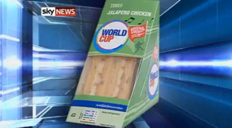 Singing Sandwich Containers - Tesco's World Cup Packaging Serenades Fans